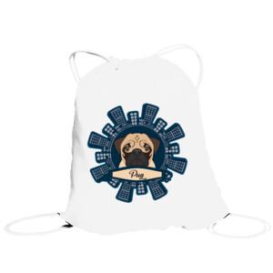 Bolsa de saco Diseño Pug Rascacielos
