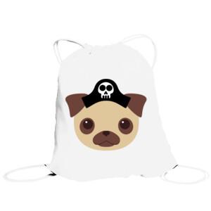 Bolsa de saco Diseño Perro Pirata