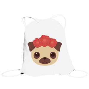 Bolsa de saco Diseño Perrita con Flores