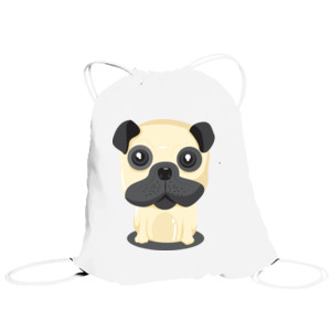 Bolsa de saco Diseño Perro Sentado