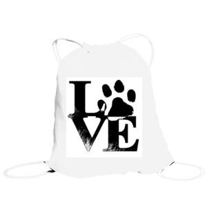 Bolsa de saco diseño Love Huella