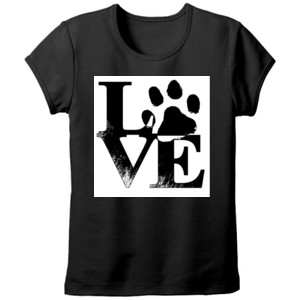 Camiseta manga corta diseño Love Huella Tallas Grandes - Mujer