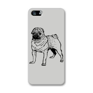 Funda de iPhone (todos los modelos) Diseño de Perro Pug Dibujado