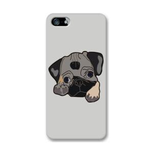 Funda de iPhone (todos los modelos) Dibujo de Perro Pug Carlino