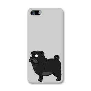Funda de iPhone (todos los modelos) Diseño gracioso de Perro Pug Carlino negro caricatura