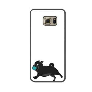 Funda de samsung (todos los modelos) Diseño Perro Pug Carlino negro corriendo con pelota