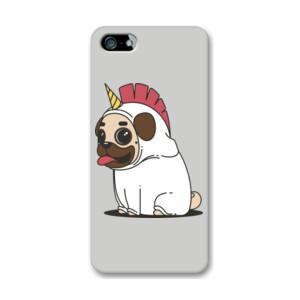 Funda de iPhone (todos los modelos) Dibujo de Pug Carlino Unicornio