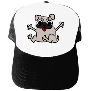 Gorra Diseño de caricatura Pug gracioso