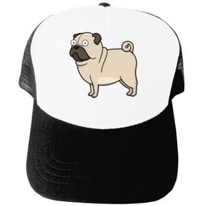 Gorra Diseño gracioso de Perro Pug Carlino caricatura