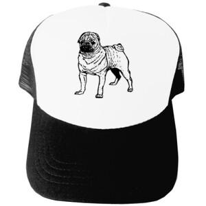 Gorra Diseño de Perro Pug Dibujado