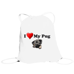 rBolsa de saco diseño I Love My Pug