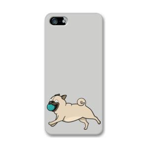 Funda de iPhone (todos los modelos) Perro Pug Carlino corriendo con pelota