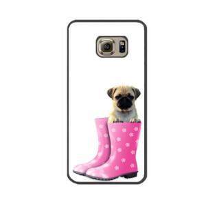 Funda de samsung (todos los modelos) Diseño Cachorro Pug Carlino dentro de bota de agua