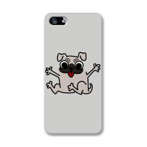 Funda de iPhone (todos los modelos) Diseño de caricatura Pug gracioso